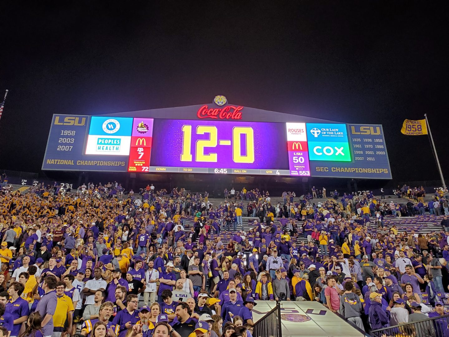 LSU Tigers complete a perfect regular season.