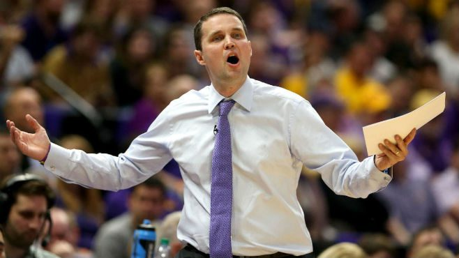LSU head Coach Will Wade and the Tigers fell short of defeating his old team, VCU, on Wednesday night. — Photo courtesy of CBS Sports.