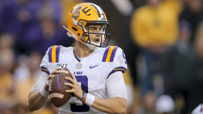 LSU Quarterback Joe Burrow on Senior Night in Tiger Stadium