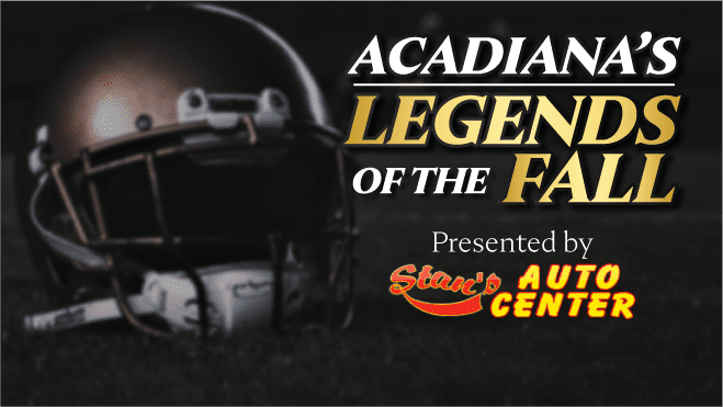 """103.7 The Game will unveil its 64-player bracket for """"Acadiana's Legends of the Fall"""" presented by Stan's Auto Center on Monday, July 20. You can vote at 1037thegame.com. — Photo illustration by Dylan Guillory"""