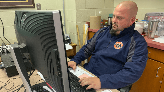 Beau Chene High School's longtime soccer coach Chad Vidrine started teaching digital media this school year. — Photo by Raymond Partsch III
