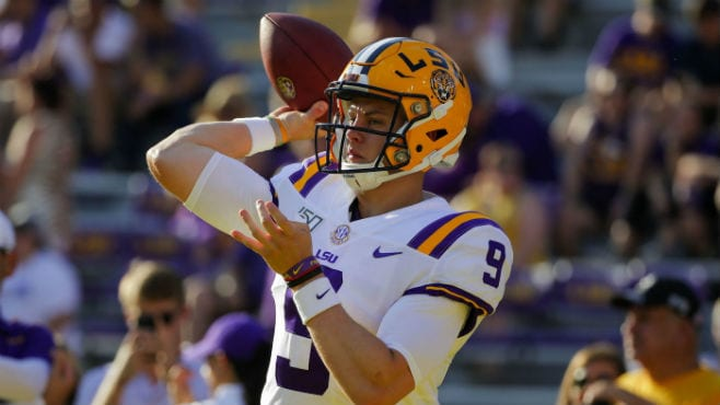 LSU quarterback Joe Burrow has been named a finalist for both the Maxwell Award and the Davey O'Brien Award. — Photo courtesy of CBS Sports