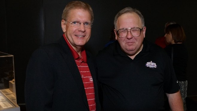 2018 DSA Winner Lyn Rollins will be joined in the Louisiana Sports Hall of Fame later this month by his friend and longtime LSU SID Kent Lowe. -- Photo courtesy of LSHOF