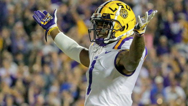 LSU wide receiver Ja'Marr Chase is one of the Tigers that are in the running for national awards. — Photo courtesy of CBS Sports
