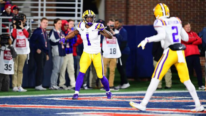 No. 1 LSU went on the road and defeated Ole Miss 58-37 to improve to 10-0 on the season. — Photo courtesy of LSU Athletics