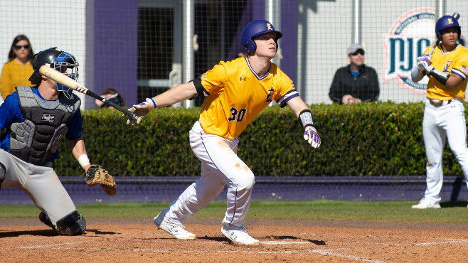 LSU Eunice star River Town For the weekend, Town went 8-for-11 (.727) at the plate, with eight RBIs, eight runs scored and two home runs over the weekend. — Photo courtesy of LSUE Athletics