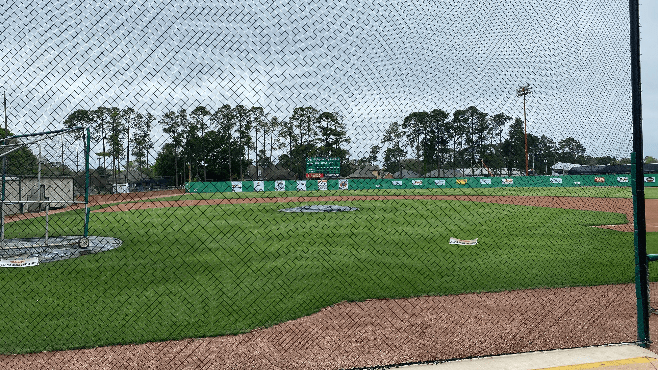 Everything is quiet at the field that the Lafayette High Mighty Lions baseball call home. — Photo by Louis Prejean