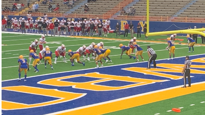 McNeese dropped its home opener against Incarnate Word on Saturday inside Cowboy Stadium. The Cardinals defeated the Cowboys 48-20. -- Photo by Raymond Partsch IIII