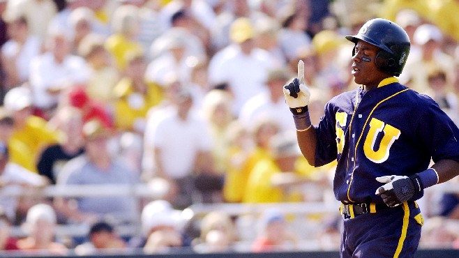 Rickie Weeks went from little known freshman at Southern University to Golden Spikes Award winner to Major League Baseball star. Weeks will be inducted into the Louisiana Sports Hall of Fame later this month. -- Photo courtesy of LSHOF