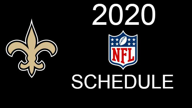 The New Orleans Saints unveiled their complete 2020 season schedule on Thursday night. — Photo illustration by Clint Domingue
