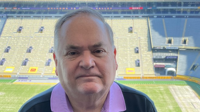 The Advocate's Sheldon Mickles has spent four-plus decades covering the LSU Tigers and New Orleans Saints, while also being involved in the Louisiana Sports Writers Association. Mickles will be enshrined Aug. 28 in the Louisiana Sports Hall of Fame as a 2021 recipient of the LSWA's Distinguished Service Award in Sports Journalism.  -- Photo courtesy of LSHOF