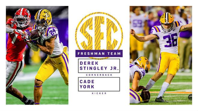 Derek Stingley and Cade York Named SEC All-Freshman