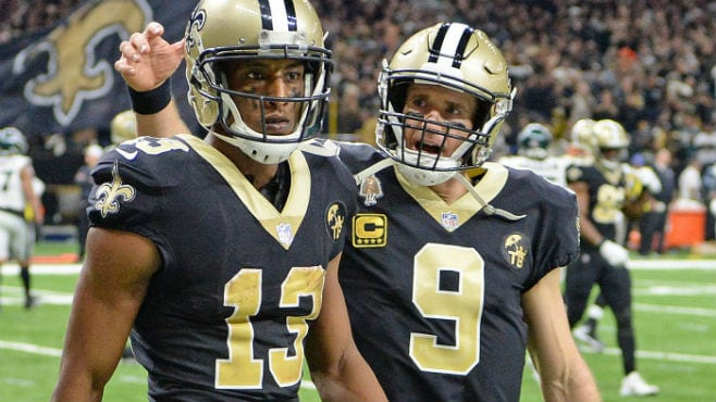 New Orleans wide receiver Michael Thomas was selected as the NFC's Offensive Player of the Month for November. — Photo courtesy of CBS Sports