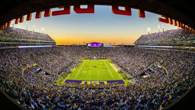 A packed house at Tiger Stadium. — Photo courtesy of LSU Sports