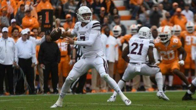 The New Orleans Saints selected Mississippi State quarterback Tommy Stevens in the seventh round of the NFL Draft on Saturday. — Photo courtesy of CBS Sports