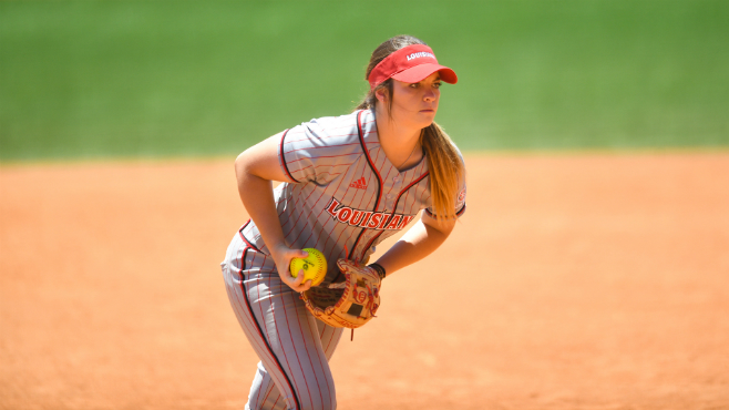 Ragin' Cajuns senior starting pitcher Summer Ellyson has been named the Sun Belt Conference Pitcher of the Week. -- Photo courtesy of UL Athletics