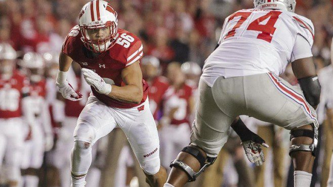 Wisconsin All-American linebacker Zack Baun was selected by the New Orleans Saints in the third round of the NFL Draft. — Photo courtesy of CBS Sports