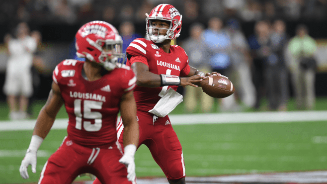 University of Louisiana quarterback Levi Lewis is providing the Ragin' Cajuns with big plays and leadership. — Photo courtesy of UL Athletics
