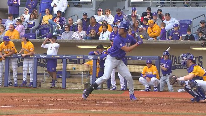LSU first baseman-outfielder C.J. Willis announced on Twitter that he is transferring to the University of Louisiana. —  Photo courtesy of KATC